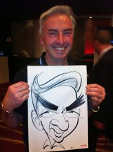 The images of good-natured attendees were captured by a caricature artist at the Riversand booth.