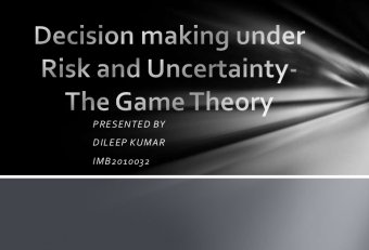 Decision theory approach in management