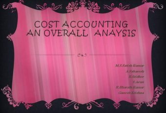 Strategic decisions and management accounting