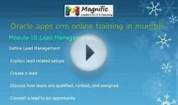Oracle apps crm placements and certification course