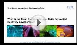 Tivoli Storage Manager overview: What is the TSM Suite for